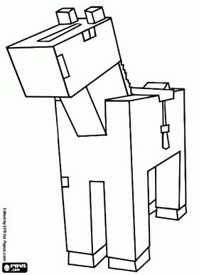 Minecraft Horse Coloring Page Camille S Ideas