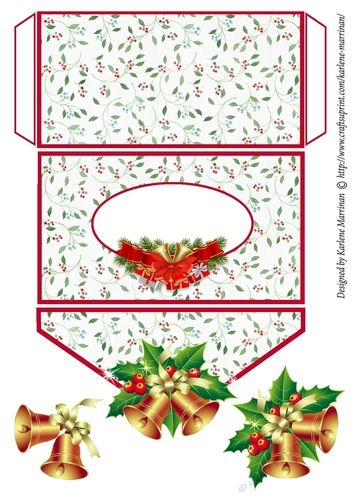 Jingle Bells Christmas Wallet/Money/ Voucher/ Gift Card Envelope by Karlene Marrinan Quick and easy to make and brightens up any voucher or…