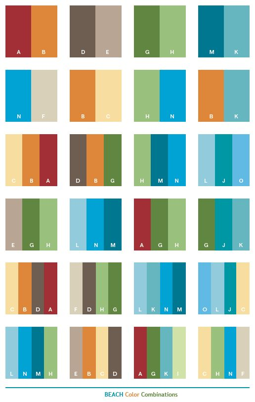 Beach color combinations