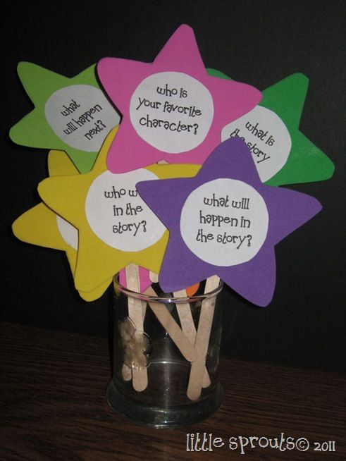 Story wands - maybe make them more boy friendly. Use them with talk partners when the've finished their book or as part of a guided reading activity