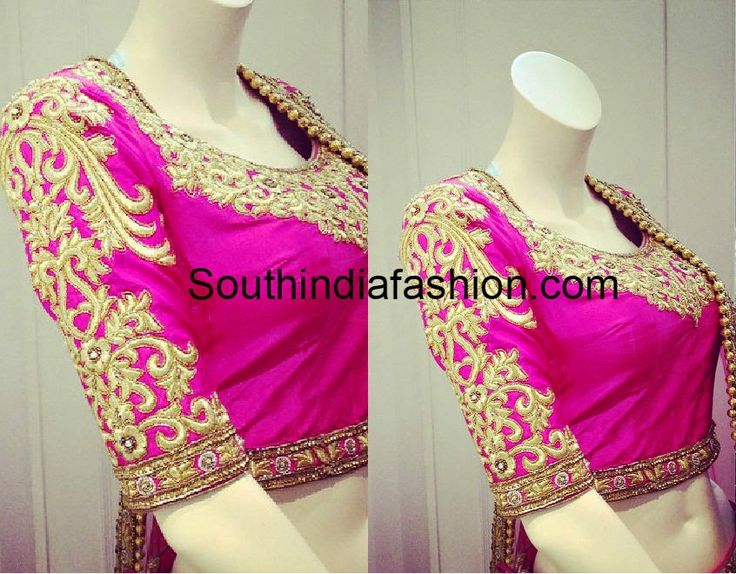 thread work blouse