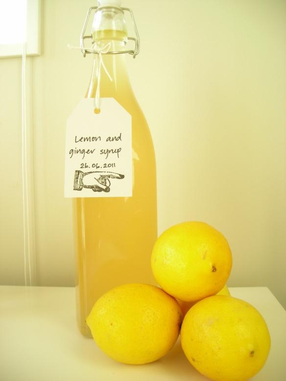 Sirop au citron et gingembre...