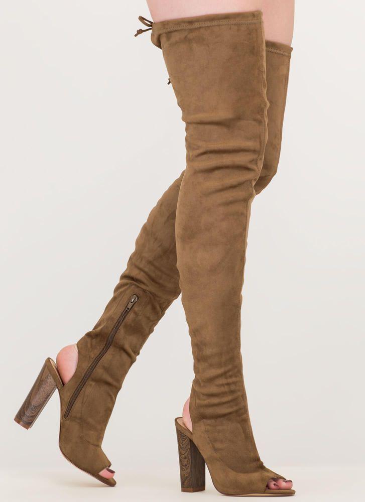1d2b93806974 Classy  N Sassy Chunky Thigh-High Boots GoJane.com