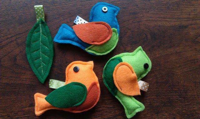 pastelovenitki - całkiem niepoważny blog o szyciu!: Ptaszki dla pisklaczka.