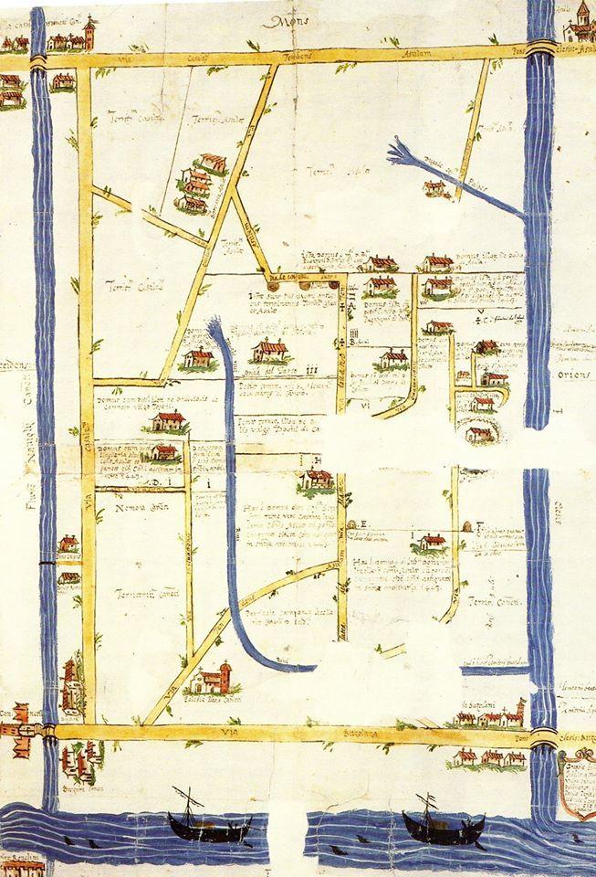 Cartografia del territorio mantovano - Mantova Archivio di Stato - Archivio Gonzaga b.92, c. 384