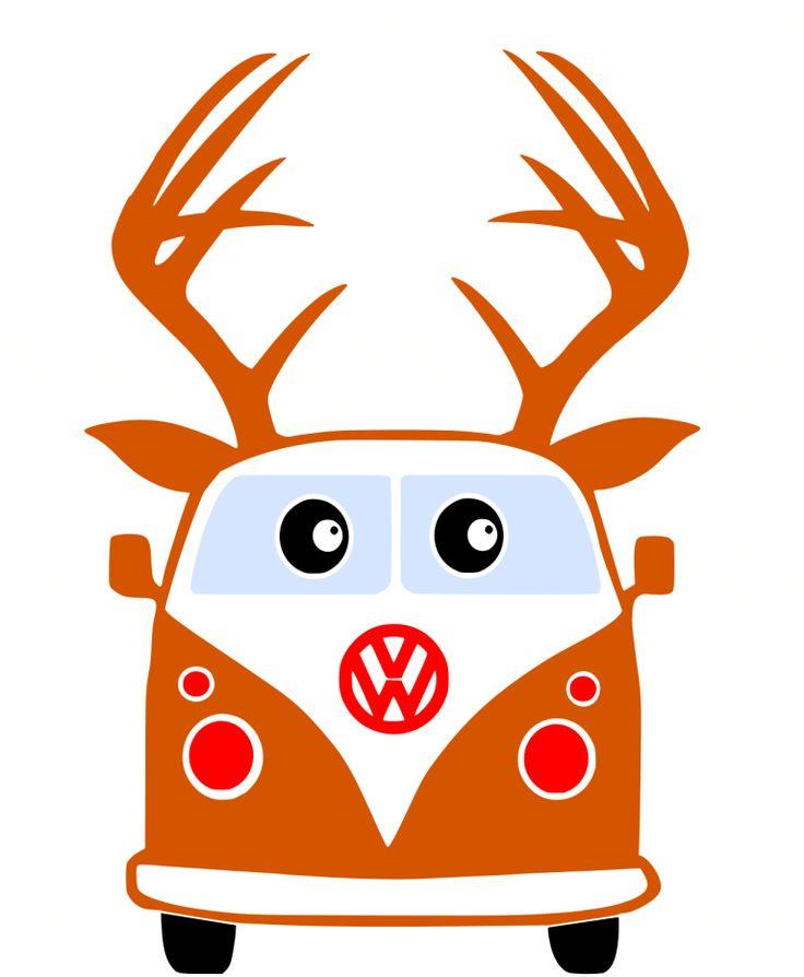 Download Free VW Reindeer SVG File | Svg files for cricut ...
