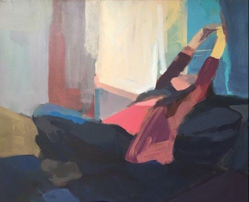 Woman Stretching By Maria Patsopoulus
