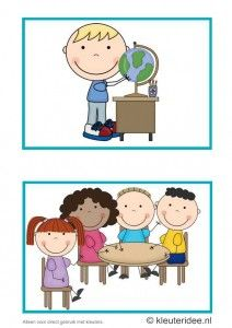 Dagritmekaarten voor kleuters 12, kleuteridee.nl , wereldoriëntatie en groepswerk , daily schedule cards for preschool 12, free printable.