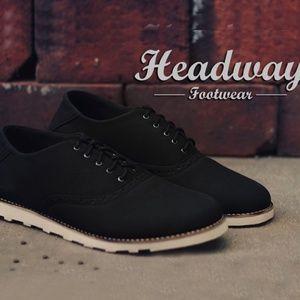 sepatu casual formal headway proud black $13