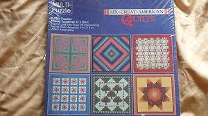 Hallmark Springbok Six Great American Quilts Mini Puzzles 7 x7 Over 70 Pieces Ea | eBay