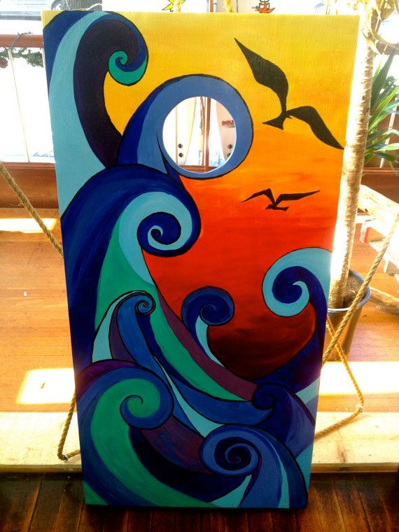Custom Built & Hand Painted Lantern Fish Cornhole by MEYEimages