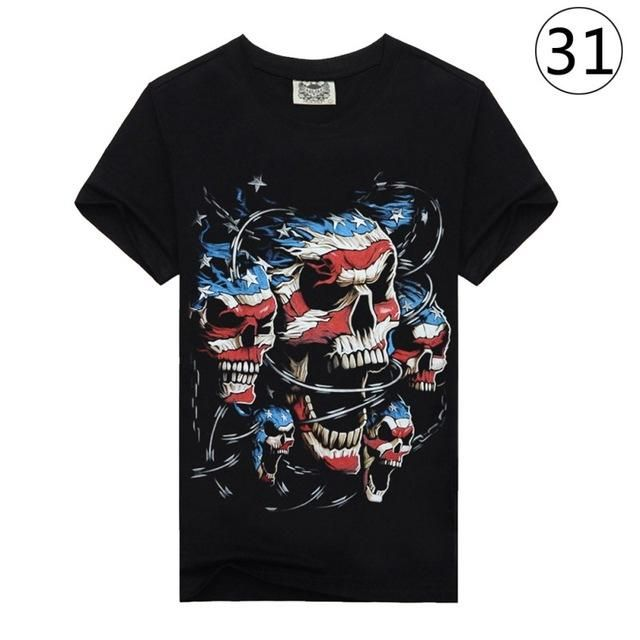 3D Pattern Men T Shirt Summer Tee Printed Short Sleeve Casual T-Shirt Hip Hop Clothing Plus Size H7 31 M