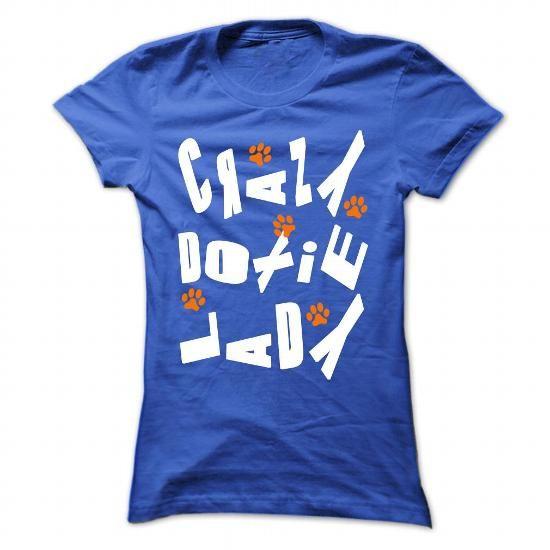 Crazy Doxie Lady - #tshirt design #long sweatshirt. CHECK PRICE => https://www.sunfrog.com/Pets/Crazy-Doxie-Lady-RoyalBlue-40673851-Ladies.html?68278