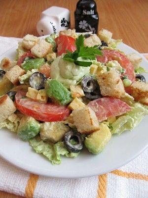 Салат с заправкой из авокадо : Салаты