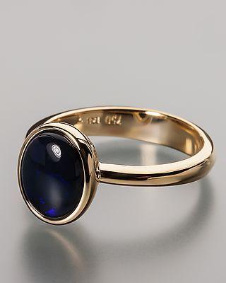 Terra Opalis Goldring mit Schwarzopal - online #black #opal #Schmuck #Terra #Opalis #jewellery #jewelry #ring