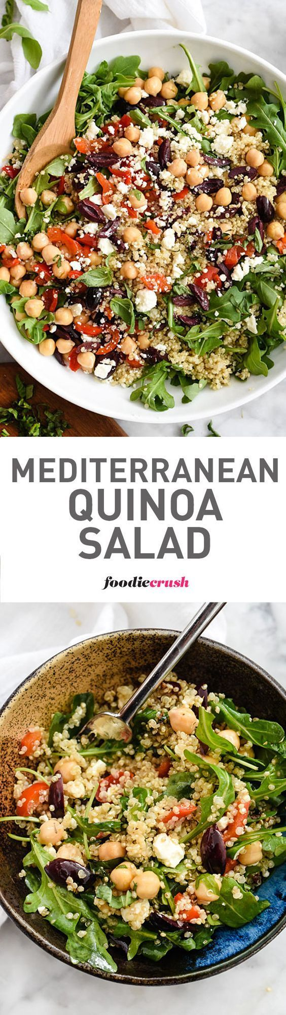 This healthy quinoa salad is one of the easiest you'll make thanks to staples from your fridge and pantry | http://foodiecrush.com