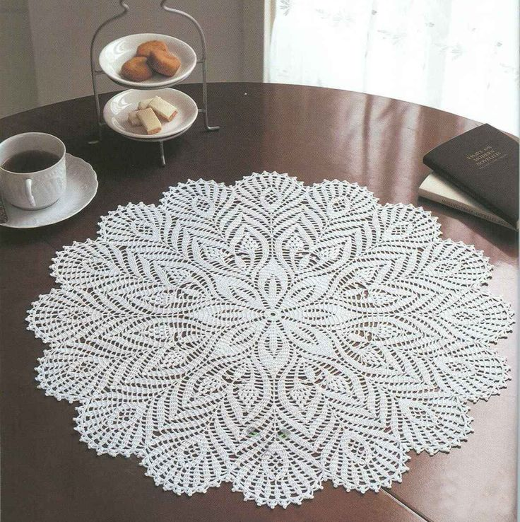 Big Ondori doily with diagram