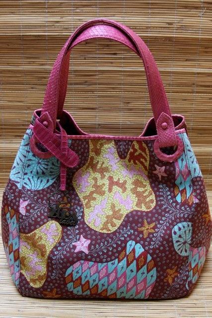 purple batik bag