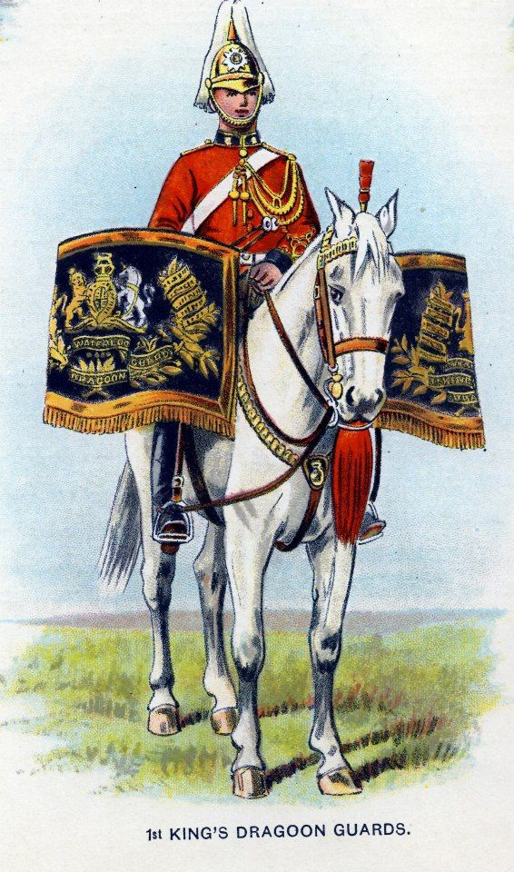 British; 1st King's Dragoon Guards, Kettledrummer, c.1912 from Bands of the British Army by W.J. Gordon and illustrated by F. Stansell