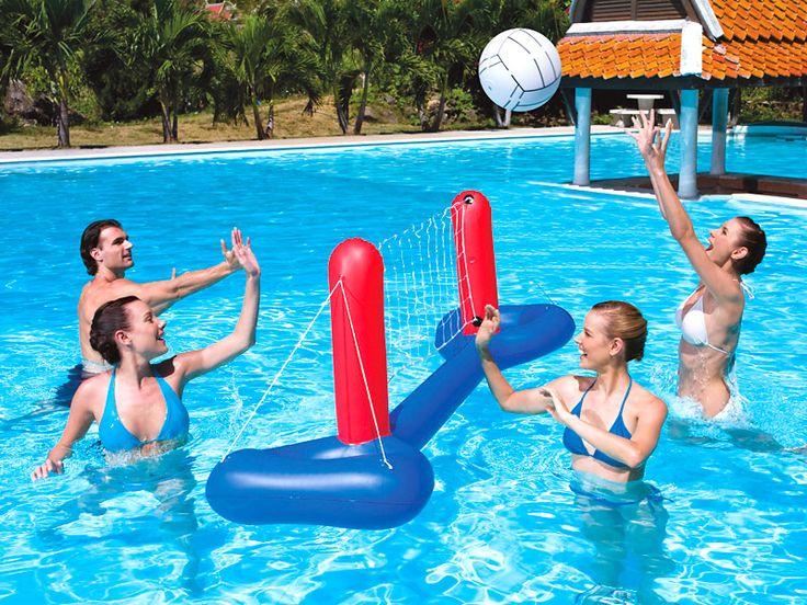 Gegen Langeweile im Pool: Mit diesem Volleyball-Spiel wird der Nachmittag im Wasser richtig aufgepeppt ;-) #pool #wasserspiel #poolspiel #poolfun