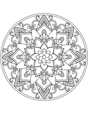 malvorlagen für blumenmandala ausmalbild blumen mandala ausmalbilder kostenlos zum ausdrucken free