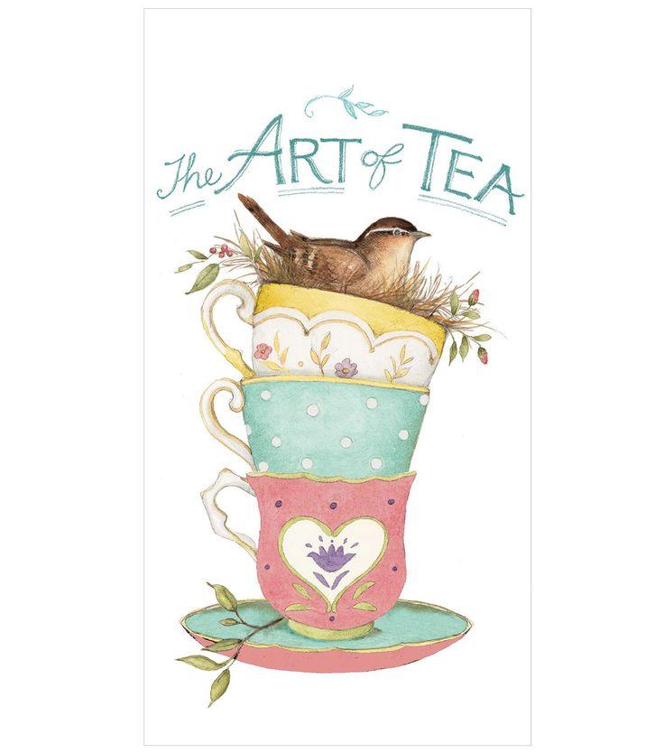 Susan Winget Art Of Tea Flour Sack Hand Towel