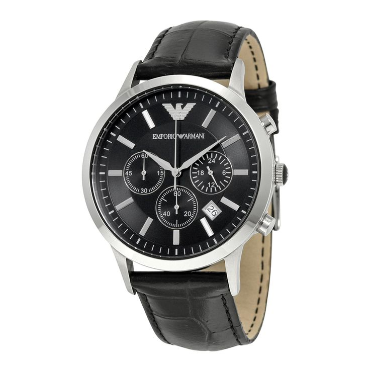 Emporio Armani Black Dial Chronograph Men's Watch AR2447 - Emporio Armani - Shop Watches by Brand - Jomashop