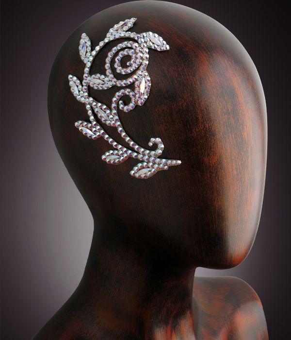 Verona Rhinestone Hairpiece CX130 Crystal AB | Dancesport Fashion @ DanceShopper.com
