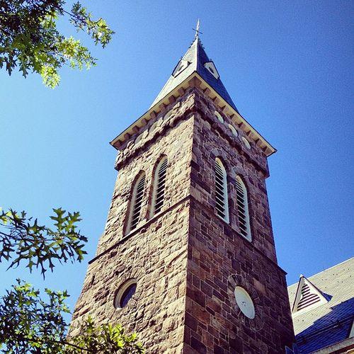 Flemington Presbyterian Church #church #presbyterian #stone #tower  #architecture #sky #flemington #nj