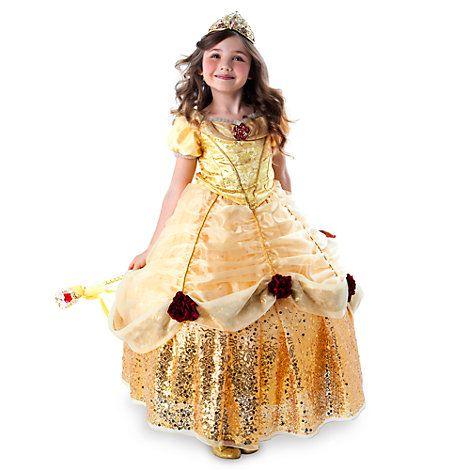Belle - Kostüm Deluxe mit Reifrock für Kinder, limierte Edition