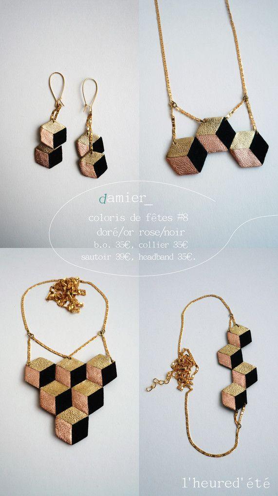 Damier - IMAGE Ce collier est ressemblant au mode d'assemblage que j'ai fait.