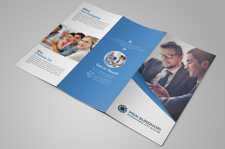 Corporate Tri fold Brochure by Pixelpick on @creativemarket