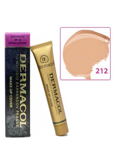 Authentic Dermacol High Cover Makeup Foundation Hypoallergenic Waterproof SPF-30 US