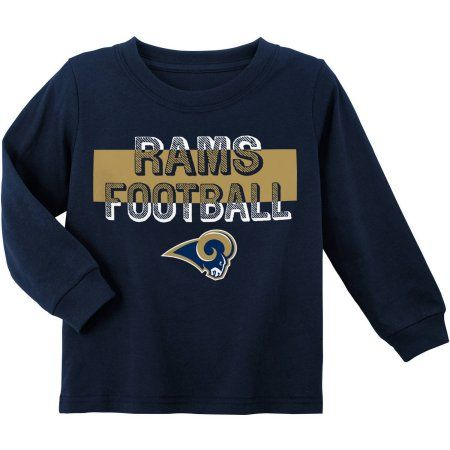 NFL Los Angeles Rams Toddler Long Sleeve Tee, Toddler Boy's, Size: 12M, Blue