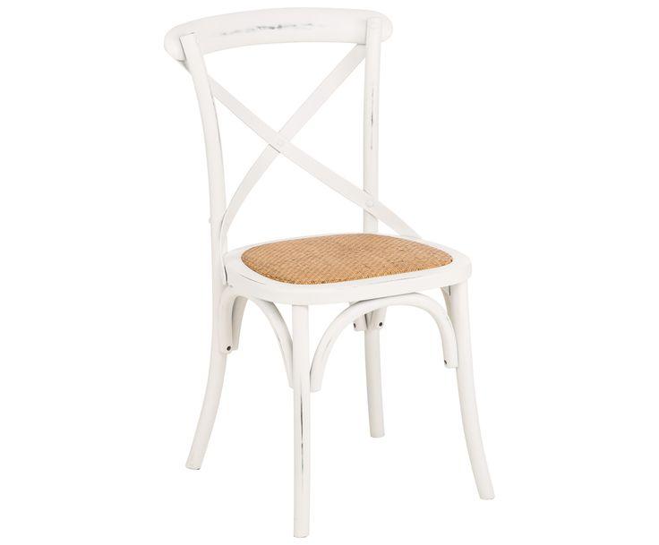 Gönnen Sie sich eine Pause! Auf GASTON wird Kaffeetrinken zu einer entspannten Ruhephase. Der weiße Stuhl bietet mit den vielen in Handarbeit hinzugefügten Gebrauchsspuren die ideale Sitzgelegenheit für Ihren Balkon oder Garten und lässt französisches Flair aufflammen. Die runden Bögen und die bequeme braun geflochtene Sitzplatte machen GASTON zu einem Schätzchen im Antik-Vintage-Stil!