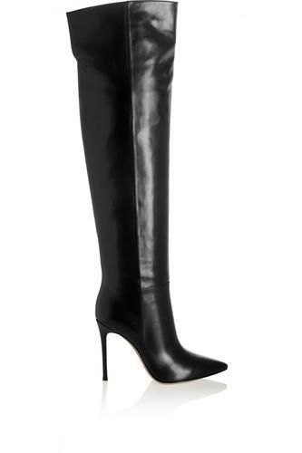 Leather knee boots #shoes #covetme #gianvitorossi