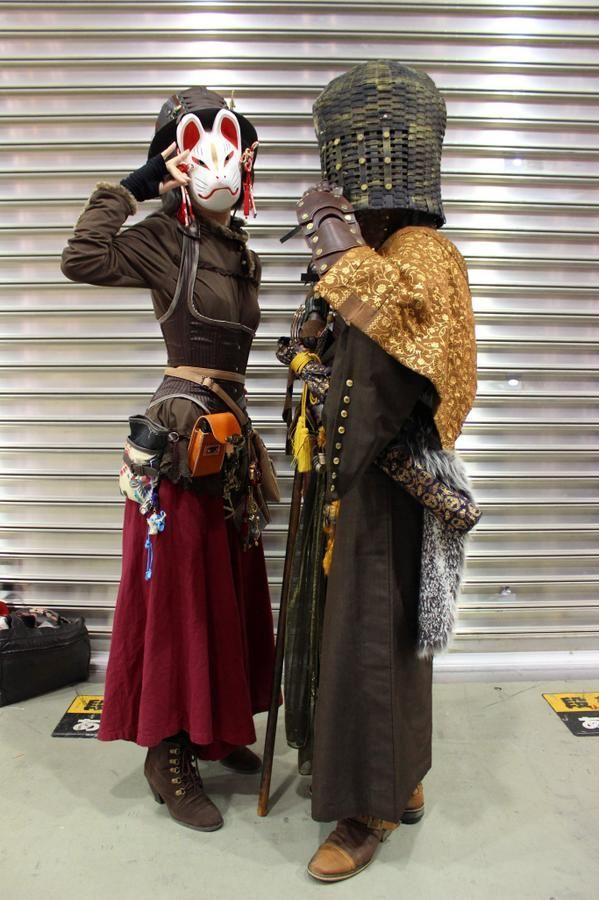 Japanese Steampunk Komuso&foxmask