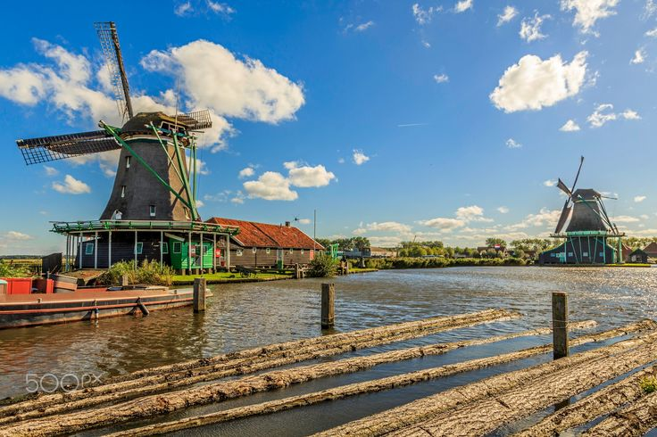 Windmills - Zaanse Schans, the city Mills! Netherlands