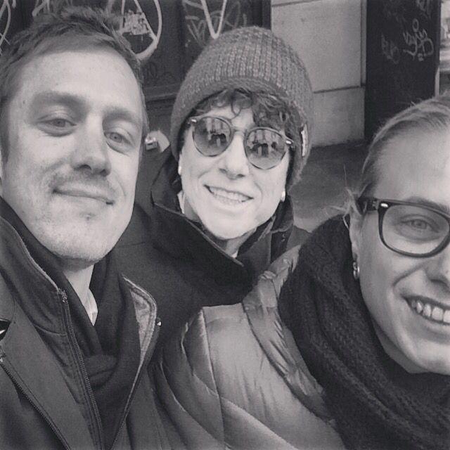 Con Marco ed Elena in via Po