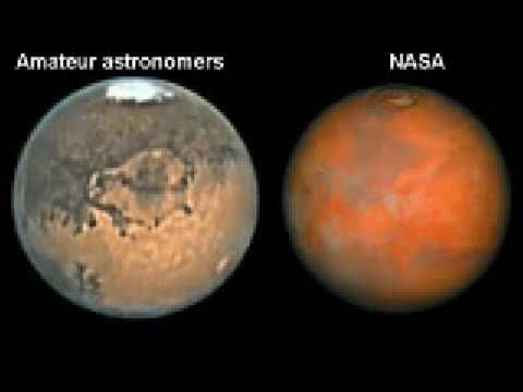 We can only speculate why NASA is not showing Mars in its true colors. But maybe 'why' is not that important at this moment. Maybe it's more important to first establish the fact that Mars is not red but yellow/brown (like earths deserts) and that it has a blue atmosphere with white clouds and then search for a reason 'why' all our textbooks are filled with techno red images from Mars. #Aliens #Mars #Ufo #Universe #Evidences #Nasa #Mars #ET