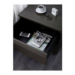 IKEA - OPPLAND, Cassettiera con 2 cassetti, impiallacciatura di rovere, , La trama e le venature naturali del legno sono state accentuate spazzolando l