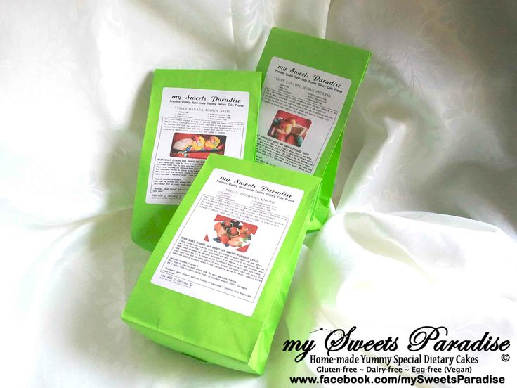 https://www.facebook.com/media/set/?set=a.628204563931795.1073741837.349911608427760&type=1 GLUTEN-FREE ~ DAIRY-FREE ~ EGG-FREE (VEGAN) PREMIUM QUALITY HAND-MADE YUMMY DIETARY CAKE PREMIX NEW BREAKTHROUGH RECIPES  WITH 3 AWESOME FLAVOURS AVAILABLE: BROWNIES KNIGHT ~ CARAMEL BROWN PRINCESS ~ BANANA BROWN ARMY