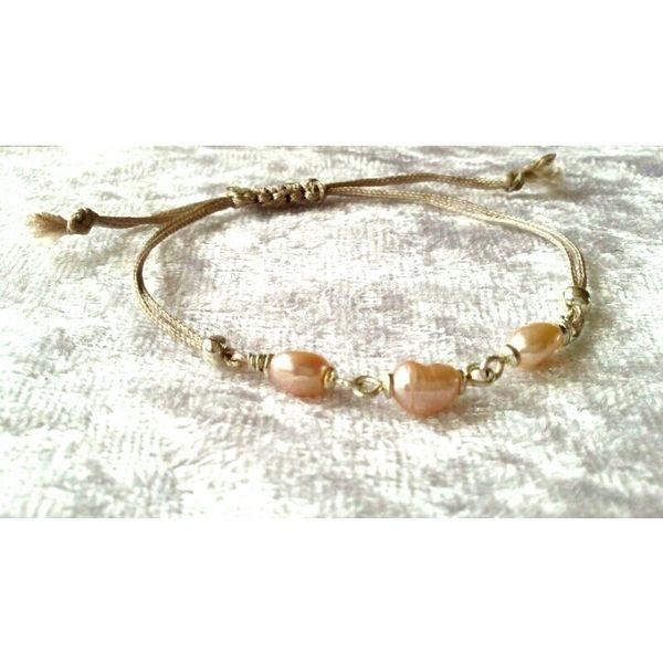 silver filled sweetwater pearl bracelet van BeeDelighted Jewelry op DaWanda.com