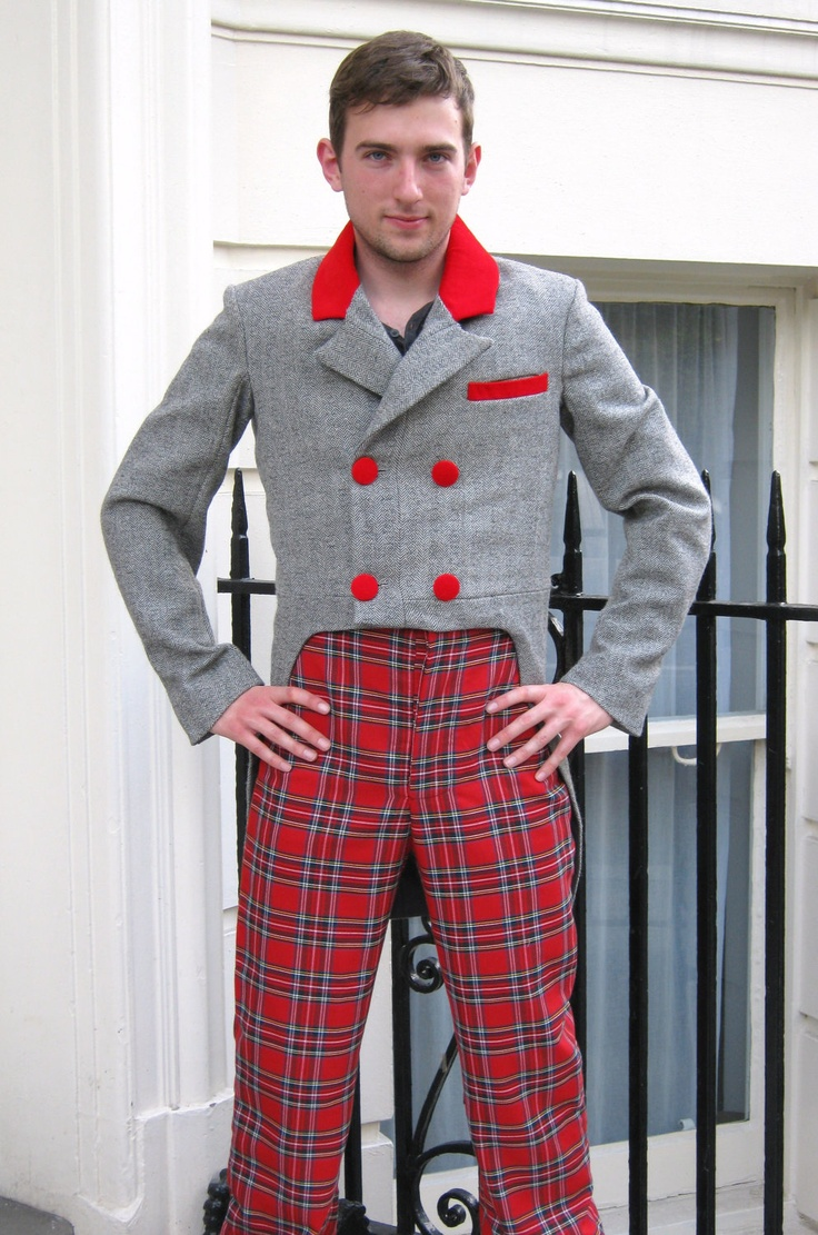 SALE - Vibrant VICTORIAN / STEAMPUNK tartan trousers with button fly.. $54.00, via Etsy.Buttons Fly, Brit Beacon, Vibrant Victorian, Tartan Trousers, Steampunk Tartan, Victorian Steampunk