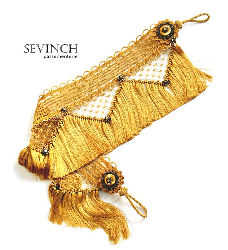 Extravagant curtain tieback made by Sevinch