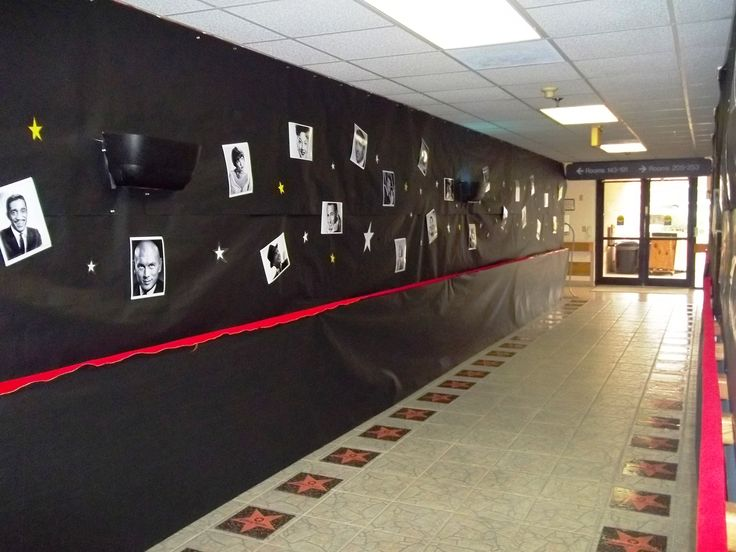 "Entranceway for Hollywood theme party this could be how we set up the ""phi sig staring"""