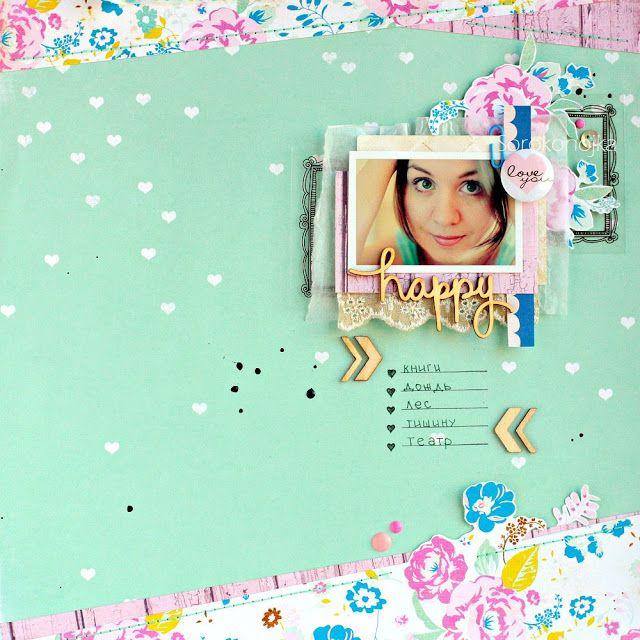 "Scrap-Malina / Блог магазина ""Скрап-Малина"": Вдохновение по скетчу №1 / Spring inspiration"