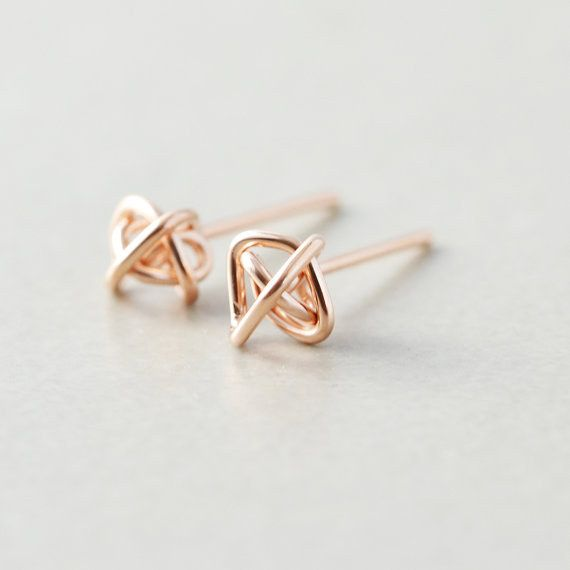 Rose Gold Knot Posts | 23 Dainty Stud Earrings You Can Wear Everyday