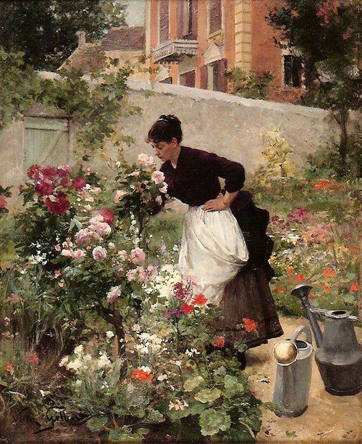 Simple Flower Garden Paintings 966 best paintings images on pinterest | paintings, flowers and