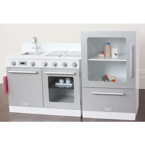 White gourmet toy kitchen set kids pinterest for Toy kitchen set